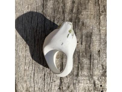 Resin Intermezzo in White & Green