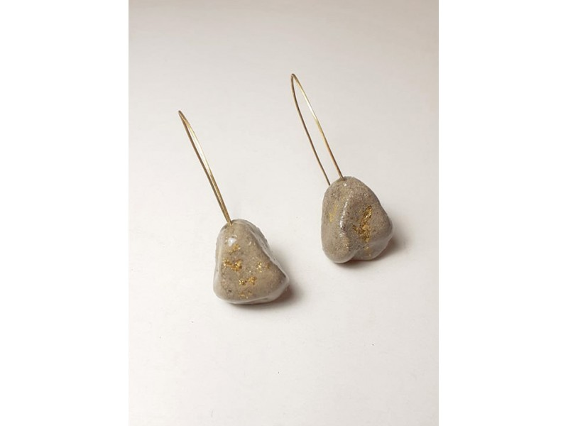 Pebble long earrings /Without Norms