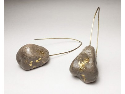 Pebble long earrings /Without Norms Betty Vakali