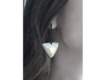 """Fishbone"" element earrings Betty Vakali"