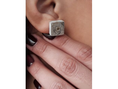 Mini square cement studs Betty Vakali