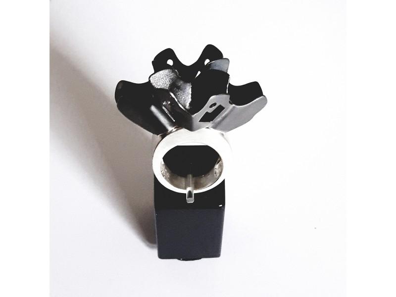 Crown of flower ring Black